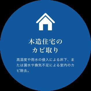 木造住宅のカビ取り